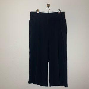 Lane Bryant Black Stretch Crop Capri Dress Pants